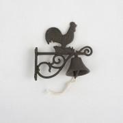 Clopot din fontă, Cocoş, 20 cm