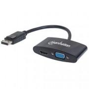 Manhattan Adattatore DisplayPort 2-in-1 4K HDMI VGA