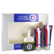 British Sterling Gift Set By Dana 2.5 oz Cologne Spray + 2.5 oz Body Wash + 2 oz After Shave Balm