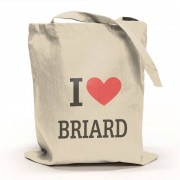 I Love Briard Tygpåse