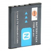 DSTE NP-BN1 1500mAh Bateria para Sony TX66 TX300 W610 QX100 - Gris Profundo