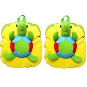 Blue Tree School Bag for Kids/Girls/Boys/Children Plush Soft Bag Backpack Tortoise Cartoon Bag Gift for Kids Cartoon Toy Cute Birthday Return Gift/ School Bag/ Travelling Carry Picnic Bag/ Teddy Bag For Children (Yellow_3 to 5 Year)