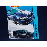 2014 Hot Wheels Hw City: 1999 Ford Mustang (Blue)