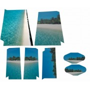 Sticker Tropisch Eiland voor de Playstation 4