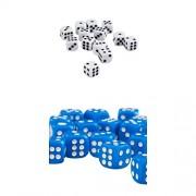 ELECTROPRIME® Set of 100 D6 Dice 12mm Six Side Dice for D&D RPG MTG Board Games Blue&White