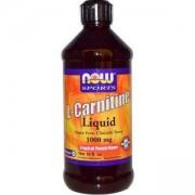 Л-Карнитин течен 465 мл. - L-Carnitine Liquid Tropical Punch 1000мг. - NOW FOODS, NF0066