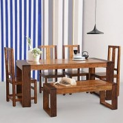 Dual Toned six seater dining set