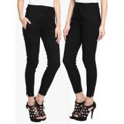 Streachanbe cotton black pant trousers