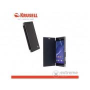 Husă telefon plastic Krusell FlipCover Boden Sony Xperia M2 D2305 negru (75834)