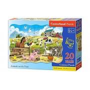 Puzzle MAXI Animale la Ferma, 20 piese