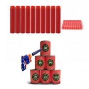 Generic 100PCS Red Refill Bullets Dart For Nerf N-strike Elite Rampage Retaliator Series Blasters One Piece