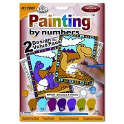 Royal Brush 638682 8.75 In. X 11.38 In. Dinosaurs One Brush My First Paint By Number Kit 2 Package