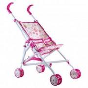 Carucior jucarie pentru papusa bebe roz