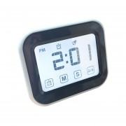 Cocina Temporizador Reloj Despertador Digital Gran Pantalla Tactil LCD Vienen Con Luz De Noche Para Cocinar, Hornear (blanco)