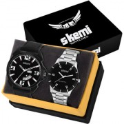Skemi Analog Round Black Dial Men Watch / Fashionable Combo Men Watch / Watches For Men Combo-057
