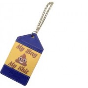 Thathing My Bag My Shit Luggage Tag(Yellow, Blue, Brown, Multicolor)