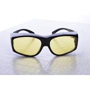 No Scope Golem Computer / Video Gaming Glasses (Prescription Rx Compatible) (Onyx Black) Reduce Eyestrain, Improve Clarity
