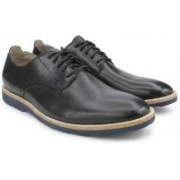 Clarks Gambeson Walk Black Leather Lace Up For Men(Black)