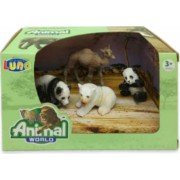 Set 4 figurine Animale Salbatice Animal World 621058