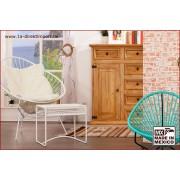 1a Direktimport Original Acapulco Chair weiß - Retro Sessel - Outdoor und Indoor