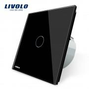Livolo EU standaard Wandlamp Touch Schakelaar, AC 220 ~ 250 V, VL-C701-12, Black Crystal Glass Switch Panel