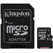 Kingston Canvas Select 64 GB MicroSDXC Class 10 80 Mbps Memory Card(With Adapter)