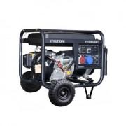 HY10000LEK-T Hyundai Generator de curent electric trifazat + kit de roti , putere 9.4 kVA , motor Hyundai