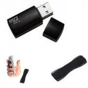 Combo of Card Reader and Finger Grip (Assorted Colors)