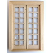 Melody Jane Dolls Houses House Builders Diy Timber 1:12 Scale Classic Wooden Double French Doors