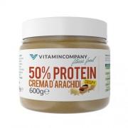 VITAMINCOMPANY Crema d' Arachidi Crispy 50% Protein 600 g VITAMINCOMPANY - VitaminCenter