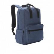 Rucsac Laptop 15 inch, buzunar frontal cu fermoar, Everestus, TK, poliester, pvc, albastru, saculet si eticheta bagaj incluse