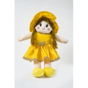 Baby Doll Girl Dolly Velvet Yellow Color by Lovely Toys