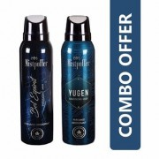 Mistpoffer Bel Espirit Perfumed Deodorant + Mistpoffer Yugen Perfumed Deodorant Body Spray Combo Offer Pack of 2 for Men 150 ml Each