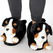 Merkloos Dieren Berner Sennen hond pantoffels/sloffen voor volwassenen LG (39-41,5) - Sloffen - volwassenen