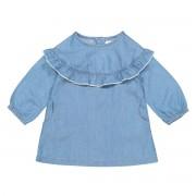 La Redoute Collections Vestido direito, mangas compridas, 1 mês-3 anosazul- 2 anos (86 cm)