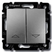 Кнопка для управления жалюзи Legrand Valena алюминий