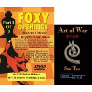 Foxy Chess Openings: Modern Defense Part 3 DVD & ChessCentral's 'Art of War' E-Book (2 Item Bundle)