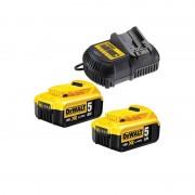 DEWALT Pack 2 batteries 18V 5Ah + chargeur - DCB115P2