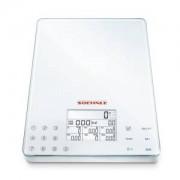 Leifheit AG SOEHNLE Food Control Easy Küchenwaage, Innovative und patentierte Sensor-Touch-Technik, Material: Sicherheitsglas/Kunststoff