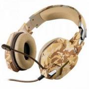 Геймърски слушалки TRUST GXT 322D Carus Gaming Headset - desert camo, 22125