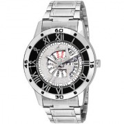 Jack Klein Stylish And Elegant Silver Chain Day And Date Working Wrist Watch
