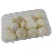 eshoppee 200 gm white onyx stone tumble 100% natural genuine original tumbled kit, crystal healing gemstones (white onex)