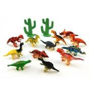 Honbay 12pcs Dinosaurs Toys Educational Toy Play Set Dinosaur Figures for Kids