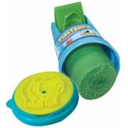 Tub rola cu stampila si plastilina verde Plastelino