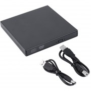EY External DVD Combo CD-RW CD BurnEY Drive ± RW DVD ROM Negro Nuevo USB 2.0 (Negro).