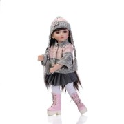 NPK 18Inch Realistic Reborn Baby Joint BJD Girl Doll Alive Soft Vinyl Toddler Princess Toy