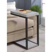 Coaster 902933 Sky collection black metal finish and cement top side table