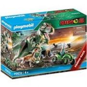 Playmobil Dinos T-Rex Attack with Raptor and Quad