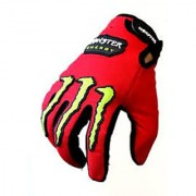 Monster Logo Biker Riding Gloves (RED)