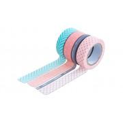 Folia Washi Tape aus 4 Rollen, Geometrisch
